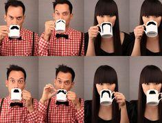 Tasse du lundi matin : Si vous n'êtes pas capable de faire pousser une moustache pour Movembre, alors ces tasses sont pour vous ! :) / Monday Morning Mug: If you can't grow a mustache for Movember, then these mugs are for you! :)
