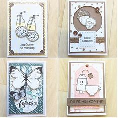 Stamps and paper from threescoops. Cas, Third, Card Making, Stamps, How To Make, Design, Stamping, Postage Stamps
