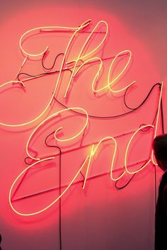 """The end"" light up wall sign. Would be so fun in a movie/entertainment room."