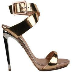 Giuseppe Zanotti Mirror leather sandal ❤