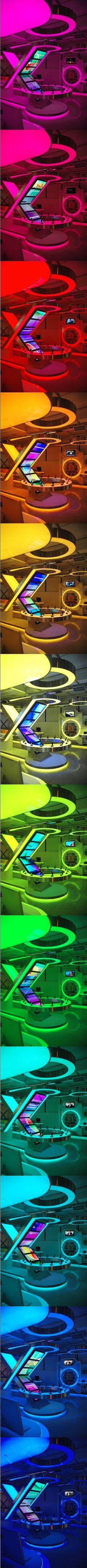 Very cool lighting!  EM FLAGSHIP STORE  Design By Tarkan Cosan & Ugur Erekul #exhibitdesign #lighting