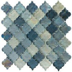 dentelle series heavenly lagoon dtl3005 arabesque - Arabesque Tile Backsplash
