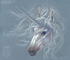 The Last Unicorn by April Schumacher on Unicorn And Fairies, Unicorn Fantasy, Unicorn Horse, Unicorns And Mermaids, Unicorn Art, Magical Unicorn, Rainbow Unicorn, Fantasy Art, Magical Creatures