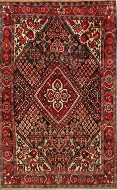 """Bakhtiari Persian Rug, Buy Handmade Bakhtiari Persian Rug 5' 5"""" x 8' 9"""", Authentic Persian Rug $850"""