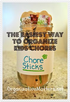 Chore Sticks: a child friendly approach to chores {#chores #organization}