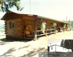 Make your manufactured home look like a log cabin