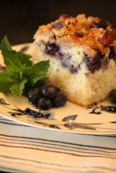 StoneGable Blueberry Ricotta Coffee Cake Pillsbury Celebrity Cook  cakepins.com