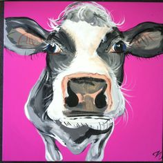 Our 'Jessica' cow painting by Caroline Walker