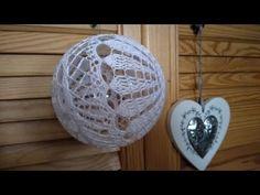 Bombka - YouTube Christmas Crochet Patterns, Christmas Balls, Couture, Crochet Projects, Knit Crochet, Crochet Earrings, Christmas Decorations, Shabby, Knitting