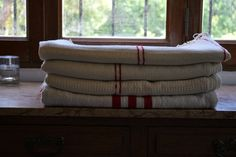 Hilo de algodón tejido en telar