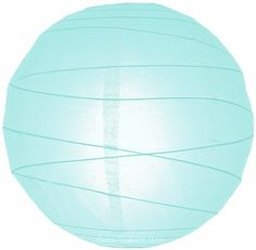 """24"""" Artic Blue Irregular Ribbed Paper Lantern by Asian Import Store, Inc.. $6.50. Round paper lantern with a irregular wire ribbing. Lantern is held open with a wire expander.  Dimensions: 24"""" dia  (All lanterns sold without lighting, lighting options must be purchased separately)"""