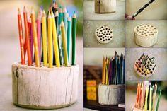 Thumbnail image for DIY Rustic Pencil Holder #diy #gift #christmas