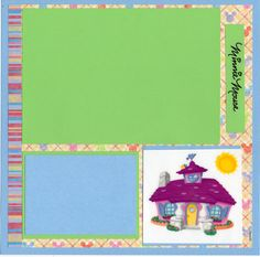 8 x 8 page for our Make A Wish Scrapbooks