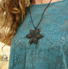 Check out this item in my Etsy shop https://www.etsy.com/listing/281029736/flower-pendant-macrame-pendant-boho