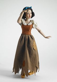 Snow White with wooden shoes..