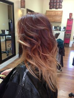auburn ombre hair - Google Search