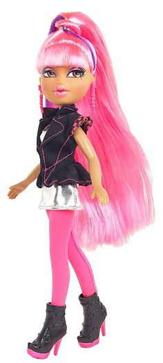 Bratz Neon Runway Doll- Yasmin (Hot Pink & Purple) - Free Shipping
