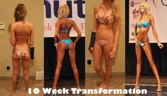 Results in 10 weeks.. Work out and meal plan on the blog!