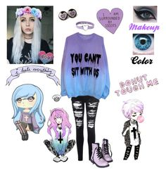 """""""Pastel Goth """" by anime-loverx ❤ liked on Polyvore featuring Glamorous"""