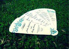 diy fan programs...for a wedding or other event...what a fabulous idea!