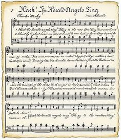 Printable Vintage Christmas Music Sheets and 6 Holiday Projects