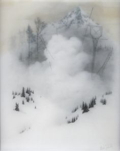 White Cloud Dust, mixed media