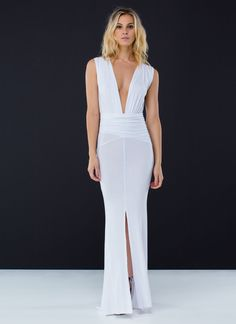 Sound The Siren Slit Mermaid Maxi WHITE