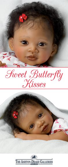 Touch-activated So Truly Real® lifelike girl baby doll by award-winning artist Waltraud Hanl coos when you touch her cheek.