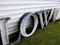 "HUGE! ALUMINUM 30"" CHANNEL LETTERS LOW OWL NEON LETTER ADVERTISING SIGN WALL ART"