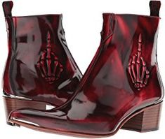 "Jeffery-West ""The Finger"" Embossed Zip Boot"