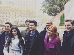 """The #Shadowhunters cast at #WinterWonderlandABCF"""