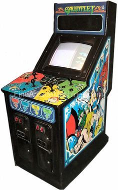 "Gauntlet Arcade Machine ""Wizard Shot the Food!"" My friends I loved this game!"