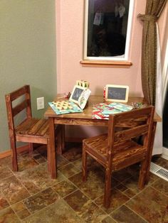 Clara Table and 4 Dollar Chairs | Do It Yourself Home Projects from Ana White