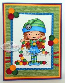 #lmms, #LittleMissMuffetStamps, #digitalstamps Jr. Hatter Peppermint