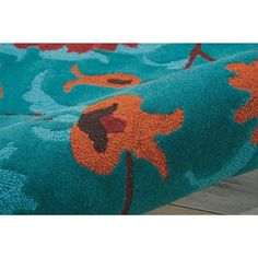 """Nourison Suzani SUZ02 Hand-tufted Area Rug - On Sale - Overstock - 7599401 - 2'3"""" x 8' Runner - Teal Teal Rug, Teal Area Rug, Area Rugs For Sale, Hand Tufted Rugs, Rug Material, Indoor Rugs, Wool Area Rugs, Colorful Rugs, Color Show"""