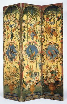 Three-Panel Screens (Paravent); Savonnerie Manufactory (French, active 1627 - present), Probably after cartoons by Jean-Baptiste Belin de Fontenay (French, 1653 - 1715), and Alexandre-François Desportes (French, 1661 - 1743); Savonnerie, France; about 1714 - 1740; Wool and linen; cotton twill gimp; wooden interior frame; modern velvet lining.
