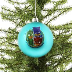 b9989b49fe Kurt Adler PJ Masks Shatterproof Ball Ornament Gift Boxed (Turquoise)     Wish to know much more