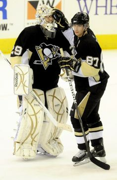 Marc-Andre Fleury and Sidney Crosby, Pittsburgh Penguins