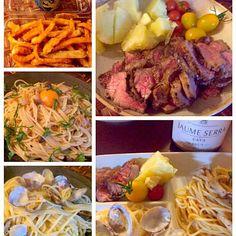 最近お仕事忙しく、お疲れモードで外食続きだったけど、今宵は久々に作ってくれました✨ 美味しかった - 67件のもぐもぐ - Today's Dinnerパスタ2種・ローストビーフ by chef hubby by Ami