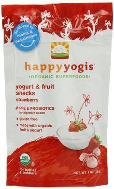 Happy Family happy yogis Yogurt Snacks - Strawberry - 1 oz