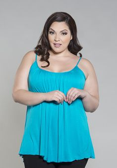New Plus  Size Pretty Cami in Turquoise! AVAILABLE NOW!