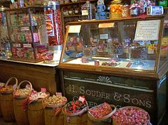 H. Souder & Son's General Store - chocolate case, Grabill, Indiana.