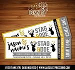 Printable Stag and Doe Ticket Invitation - Wedding Party - Mustard Gold, Gray and Black Invitation - Bridal Shower Ticket Invitation, Invitations, Printable Tickets, Stag And Doe, Wedding, Valentines Day Weddings, Weddings, Save The Date Invitations, Marriage