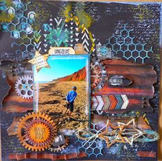 """""""Best Day"""" layout Adriana Bolzon DT for Kaisercraft 'Scrap Yard' collection - Wendy Schultz ~ Scrapbook Pages Mixed Media Scrapbooking, Scrapbooking Layouts, Travel Scrapbook, Scrapbook Cards, Painted Bamboo, Journaling, Happy Birthday Dad, Scrapbook Designs, Fun Projects"""