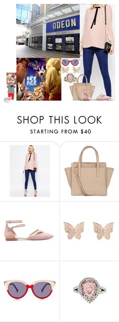 """""""Taking Adi to the movie theater to watch 'Ice Age: Collision Course'"""" by duchess-rebecca ❤ liked on Polyvore featuring ASOS, Salvatore Ferragamo, Zara, Latelita, Preen, Diana M. Jewels and Fendi"""