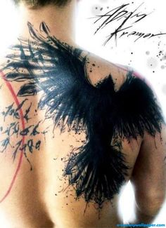 Black Crow Tattooed This Splatter Silhouette Adam Kremer Copy