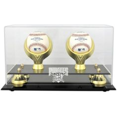 Pittsburgh Pirates Fanatics Authentic Golden Classic Two Baseball Logo Display Case - $59.99