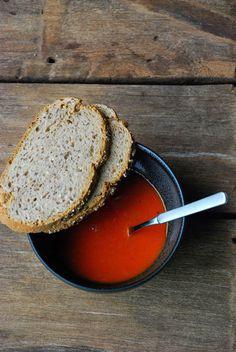 .: gegrilde paprika & tomatensoep