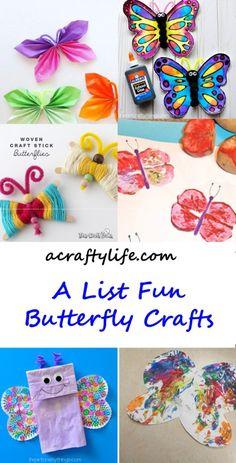 20 Fun Butterfly Crafts- acraftylife.com