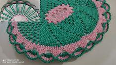 Bathroom Ensembles, Blanket, Crochet, Kids Rugs, Youtube, Bathroom Mat, Vase Crafts, Crochet Skull, Polka Dot Rug